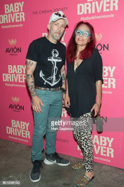 Artist Scooter LaForge and Designer Patricia Fields attend TriStar Pictures The Cinema Society and Avion's screening of 'Baby Driver' at The...