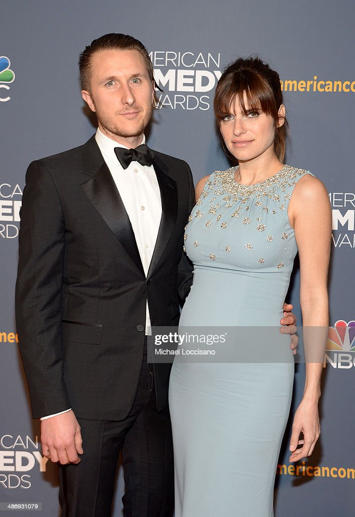 Artist Scott Campbell (L) and actress <a gi-track='captionPersonalityLinkClicked' href=/galleries/search?phrase=Lake+Bell&family=editorial&specificpeople=209336 ng-click='$event.stopPropagation()'>Lake Bell</a> attend 2014 American Comedy Awards at Hammerstein Ballroom on April 26, 2014 in New York City.