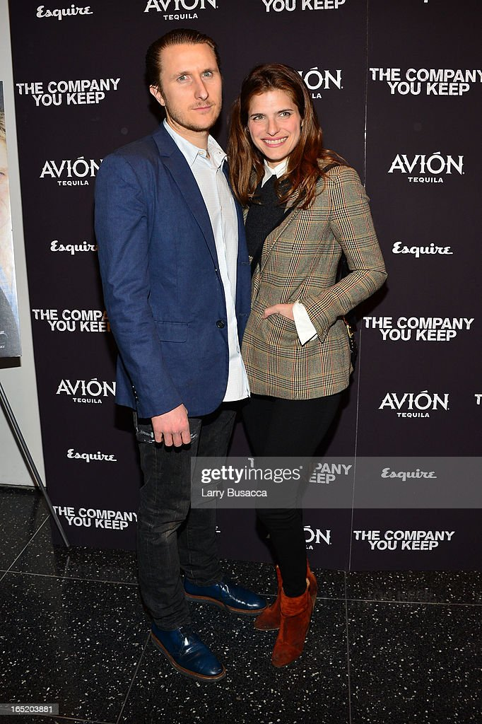 Artist Scott Campbell and Lake Bell attend 'The Company You Keep' New York Premiere at The Museum of Modern Art on April 1, 2013 in New York City.