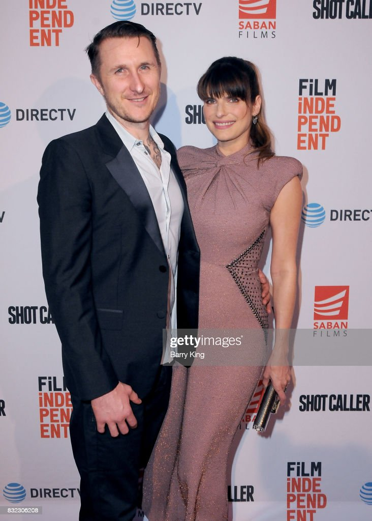 Artist Scott Campbell and wife actress Lake Bell attend the screening of Saban Films and DIRECTV's' 'Shot Caller' at The Theatre at Ace Hotel on August 15, 2017 in Los Angeles, California.