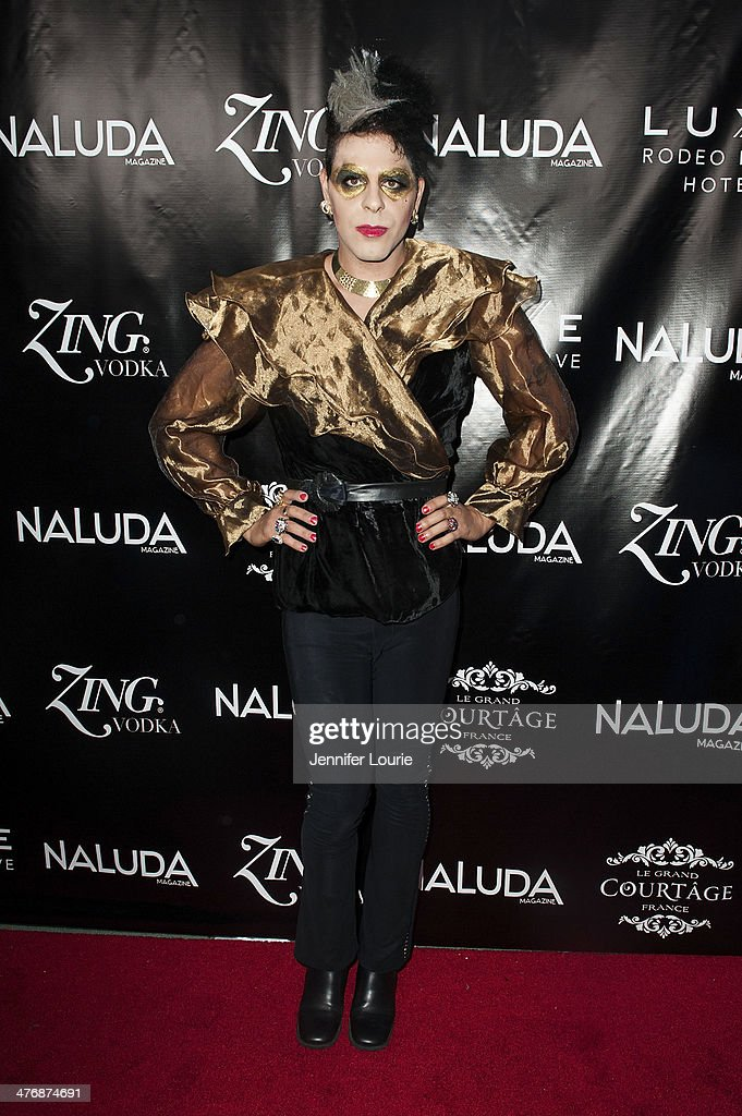 Artist Sham Ibrahim arrives at the Naluda Magazine March Issue launch party with cover girl Joyce Giraud hosted at the Luxe Rodeo Drive Hotel on March 4, 2014 in Beverly Hills, California.