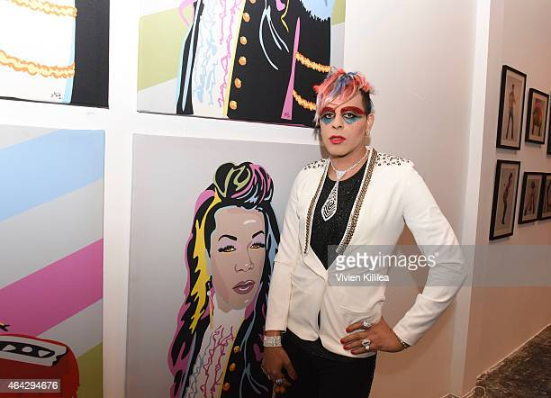 Artist Sham Ibrahim attends the 'Twerk Of Art' Photography Collection from Big Freedia at World Of Wonder on February 23 2015 in Hollywood California...
