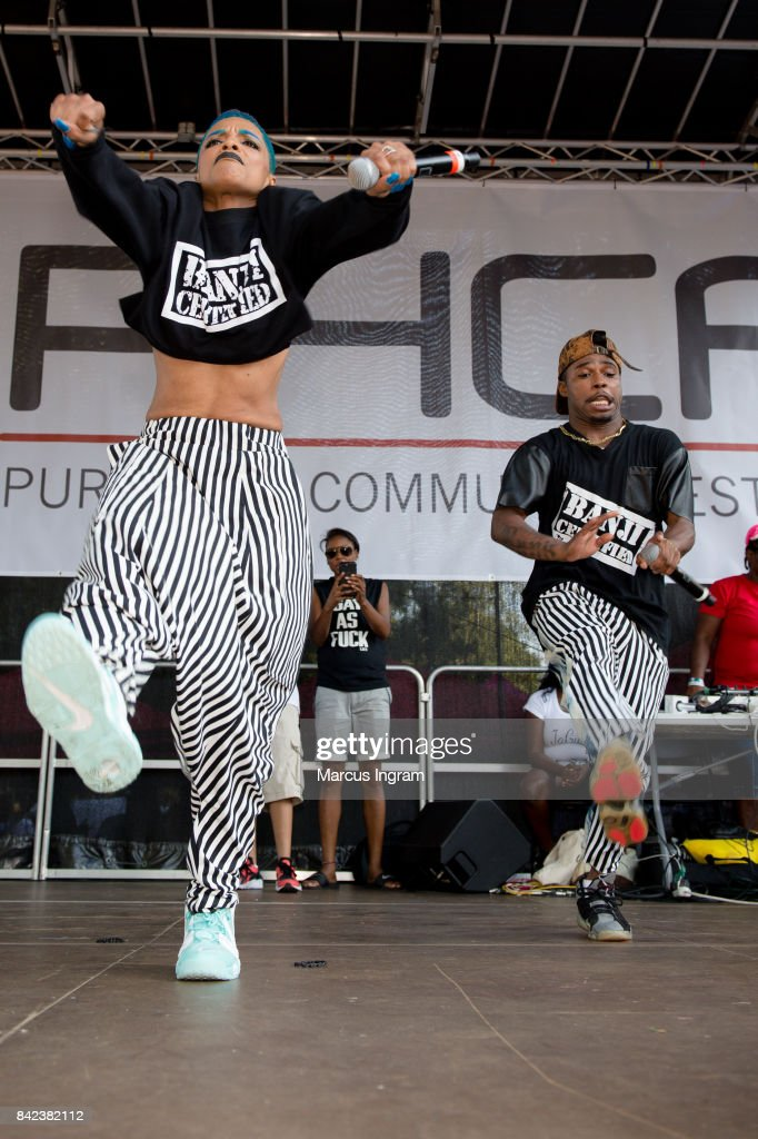 Artist Sharaya J performs on staged during the 2017 Pure Heat Community Festival at Piedmont Park on September 3, 2017 in Atlanta, Georgia.