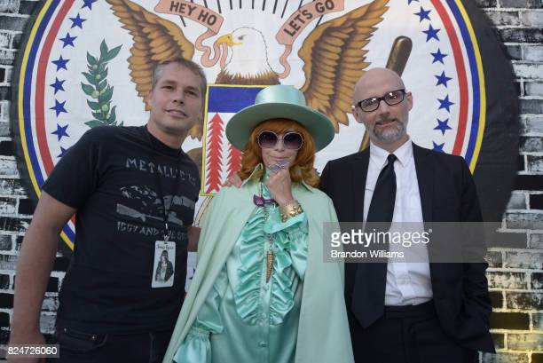 Artist Shepard Fairey philanthropist Linda Ramone and artist Moby the Johnny Ramone Tribute and special screening of 'Buffalo '66' at Hollywood...