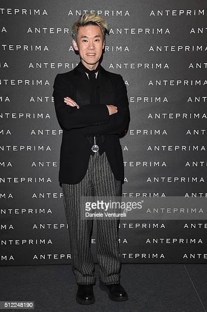 Artist Shinsuke Kawahara attends the Anteprima show during Milan Fashion Week Fall/Winter 2016/17 on February 25 2016 in Milan Italy
