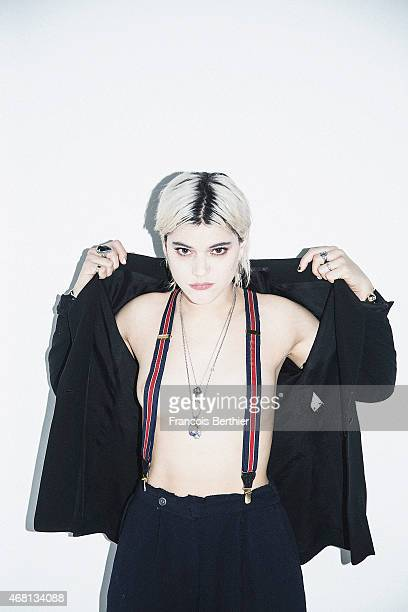 Artist Soko is photographed for Self Assignment on January 29 2015 in Paris France
