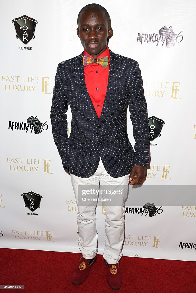 Artist Solomon Adufah arrives at the For Our Girls of Nigeria benefit concert hosted by singer/actor Tyrese Gibson at 1OAK on May 30, 2014 in West Hollywood, California.