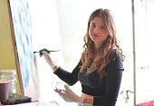 DEU: Local Artists Paint Windows On Epidemic Topics - Week 2