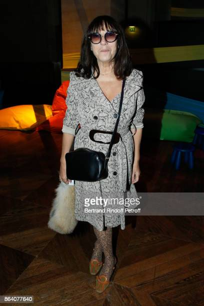 Artist Sophie Calle attends the 'Bal Jaune Elastique 2017' Dinner Party at Palais Brongniart during FIAC on October 20 2017 in Paris France