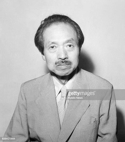 Artist Sotaro Yasui is seen in September 1950 in Japan