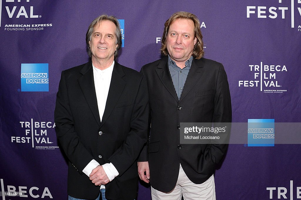 Artist Stephen Hannock (L) and director of Dreamscapes Wolfram Hissen attend the 'Triptych' Shorts Program during the 2012 Tribeca Film Festival at the AMC Lowes Village on April 19, 2012 in New York City.