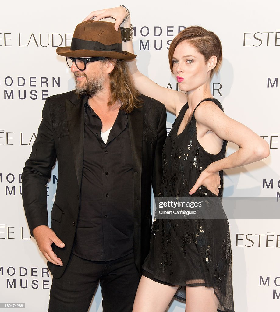Artist Steven Sebring and model <a gi-track='captionPersonalityLinkClicked' href=/galleries/search?phrase=Coco+Rocha&family=editorial&specificpeople=4172514 ng-click='$event.stopPropagation()'>Coco Rocha</a> attend the Estee Lauder 'Modern Muse' Fragrance Launch at Guggenheim Museum on September 12, 2013 in New York City.