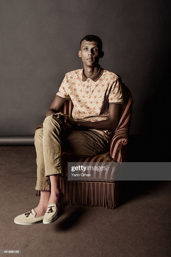 Artist <a gi-track='captionPersonalityLinkClicked' href=/galleries/search?phrase=Stromae&family=editorial&specificpeople=6826786 ng-click='$event.stopPropagation()'>Stromae</a> is photographed for Self Assignment on September 11, 2014 in Paris, France.