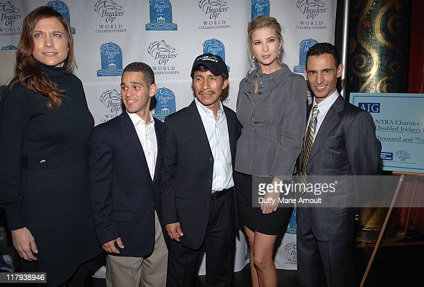 Artist SusanSommerLuarca Leading Jockey Javier Castellano Leading Jockey Edgar Prado Ivanka Trump and Leading Jockey Johnny Velasquez attend the...