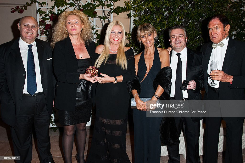 Artist Sylvana Gainier and Monica Bacardi attend the 'Opera Romeo and Juliette' : Gala to the benefit of the The Children for Peace association, on October 26, 2013 in Monte-Carlo, Monaco.