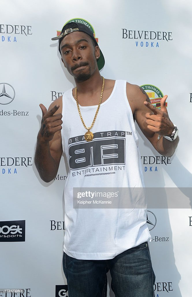 Artist Tae Snap arrives to the 4th Annual Alex Thomas Celebrity Golf Weekend Pool Party hosted by NFL's Jacoby Jones of the Baltimore Ravens at Hollywood Roosevelt Hotel on July 14, 2013 in Hollywood, California.