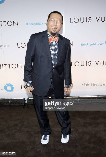 Artist Takashi Murakami attends the Louis Vuitton gala opening of the ' Murakami' exhibition at The Brooklyn Museum on April 03 2008 in New York City