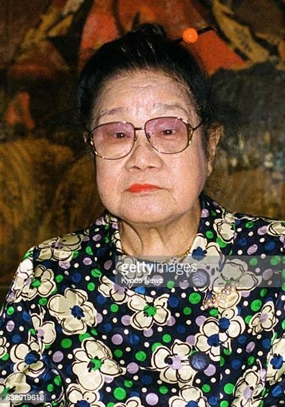 Artist Tamako Kataoka is seen in September 2001 in Japan