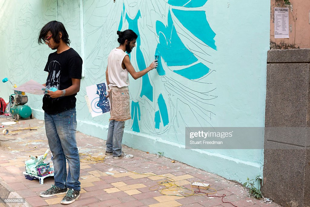 Street Art In Lodhi Colony New Delhi India Photos and Images