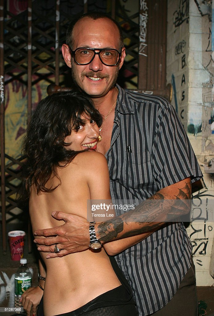Artist Terry Richardson and his girlfriend Alex Bolotow attend the Terry Richardson Gallery opening at Deitch September 10 2004 in New York City