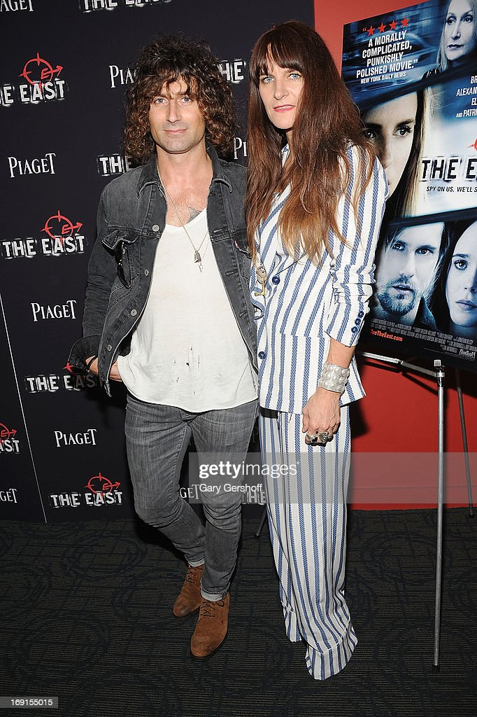 Artist Todd DiCiurcio (L)and Megan DiCiurcio attend 'The East' premiere at Landmark's Sunshine Cinema on May 20, 2013 in New York City.
