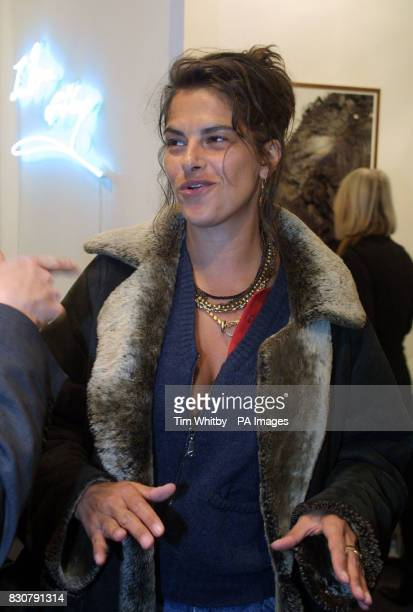 Artist Tracey Emin at the preview day of ART 2002 being held at the Buisiness Design Centre in Islington North London The art fair opens to the public