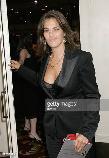 Artist Tracey Emin leaves the stage having presented the award for Factual Series at the Pioneer British Academy Television Awards 2006 at the...