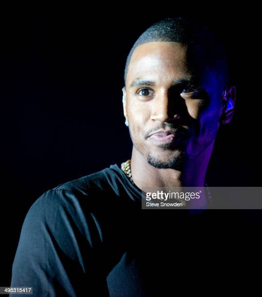B artist Trey Songz performs at Route 66 Casinos Legends Theater on May 23 2014 in Albuquerque New Mexico
