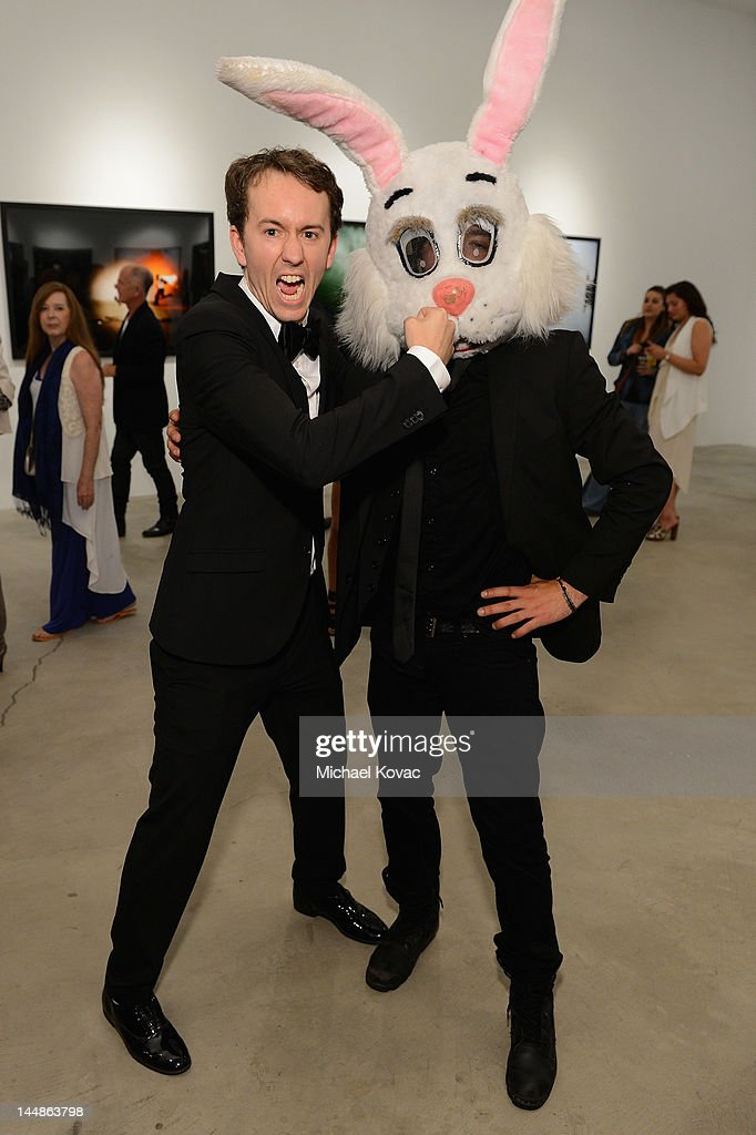 Artist <a gi-track='captionPersonalityLinkClicked' href=/galleries/search?phrase=Tyler+Shields+-+Photographer&family=editorial&specificpeople=5509471 ng-click='$event.stopPropagation()'>Tyler Shields</a> attends his debut of MOUTHFUL presented by A/X Armani Exchange in support of LOVE IS LOUDER at a Private Studio on May 19, 2012 in Los Angeles, California.