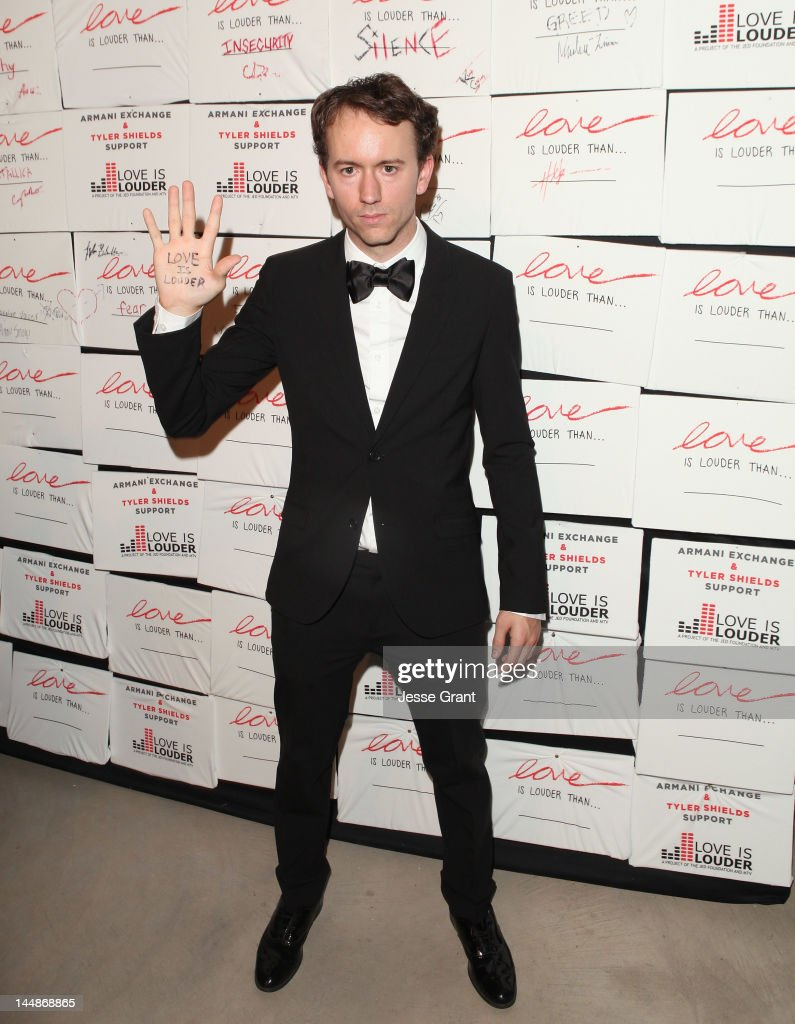 Artist Tyler Shields attends Tyler Shields debut of MOUTHFUL presented by A/X Armani Exchange in support of LOVE IS LOUDER at a Private Studio on May...