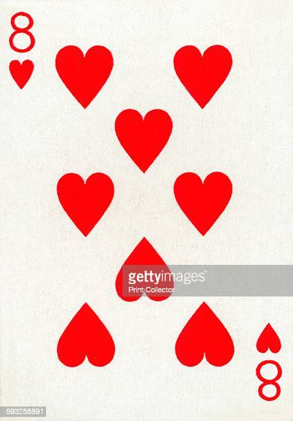 Artist Unknown 8 of Hearts from a deck of Goodall Son Ltd playing cards circa 1940 [Goodall Son Ltd London circa 1940]