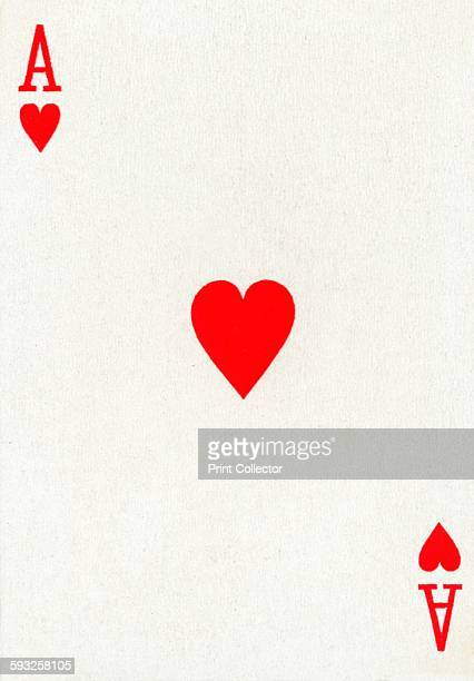 Artist Unknown Ace of Hearts from a deck of Goodall Son Ltd playing cards circa 1940 [Goodall Son Ltd London circa 1940]