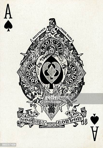 Artist Unknown Ace of Spades from a deck of Goodall Son Ltd playing cards circa 1940 [Goodall Son Ltd London circa 1940]