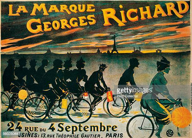 Artist Unknown Advertisement for Georges Richard bicycles circa 1900