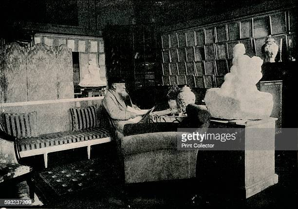 Artist Unknown 'Auguste Rodin Among His Books At 77 Rue De Varenne' circa 1900 French sculptor Auguste Rodin From The Studio Volume 72 [London...
