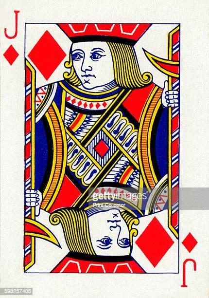 Artist Unknown Jack of Diamonds from a deck of Goodall Son Ltd playing cards circa 1940 [Goodall Son Ltd London circa 1940]
