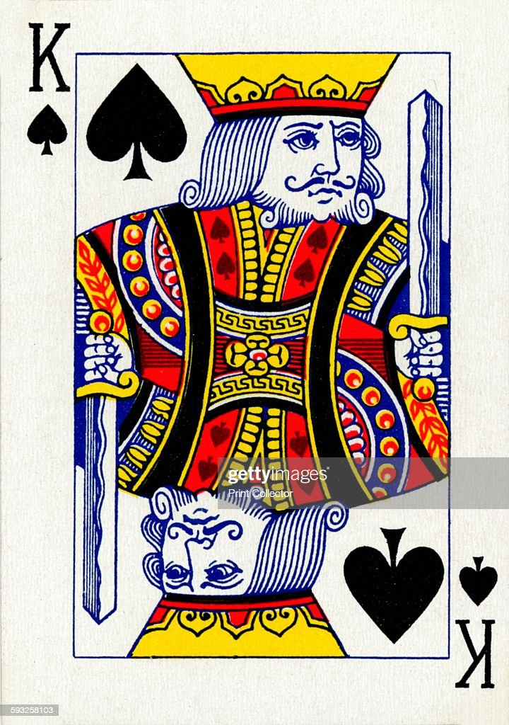 Artist Unknown King of Spades from a deck of Goodall Son Ltd playing cards circa 1940 [Goodall Son Ltd London circa 1940]