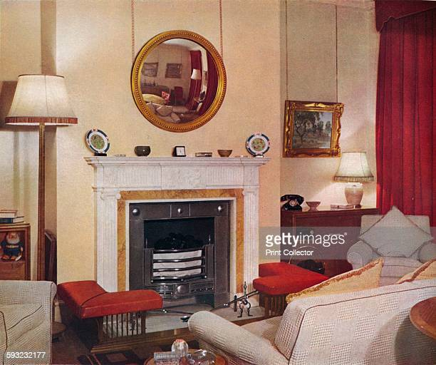 Artist Unknown 'Livingroom in a flat in St James's Street SW1' circa 1939 Designed by RW Symonds Partner L ARIBA From The Studio Volume 117 [The...