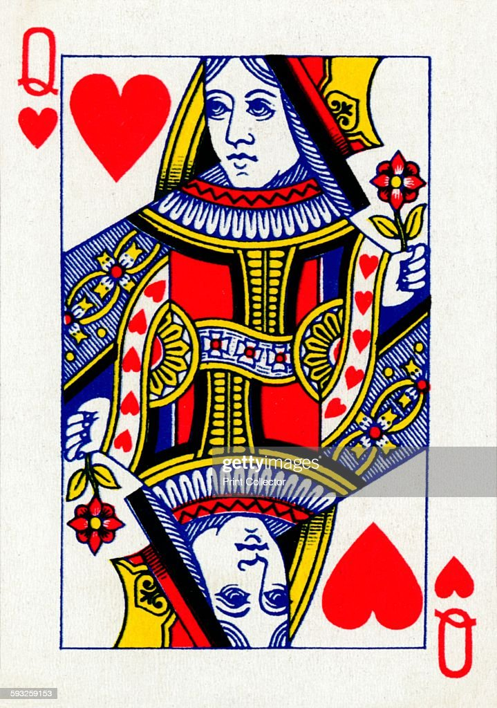 Artist Unknown Queen of Hearts from a deck of Goodall Son Ltd playing cards circa 1940 [Goodall Son Ltd London circa 1940]