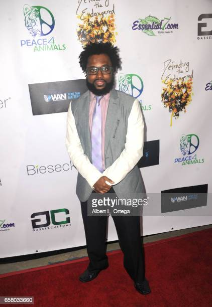 Artist Will Anderson aka TaZMatic arrives for the Defending The Endangered presents 'For The Love Of Animals Gala' held at Art Commerce Productions...