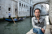 Artist WU TienChang poses for 'WU Tienchang Never Say Goodbye' during The 56th Venice Biennale Presented By Taipei Fine Arts Museum Of Taiwan on May...