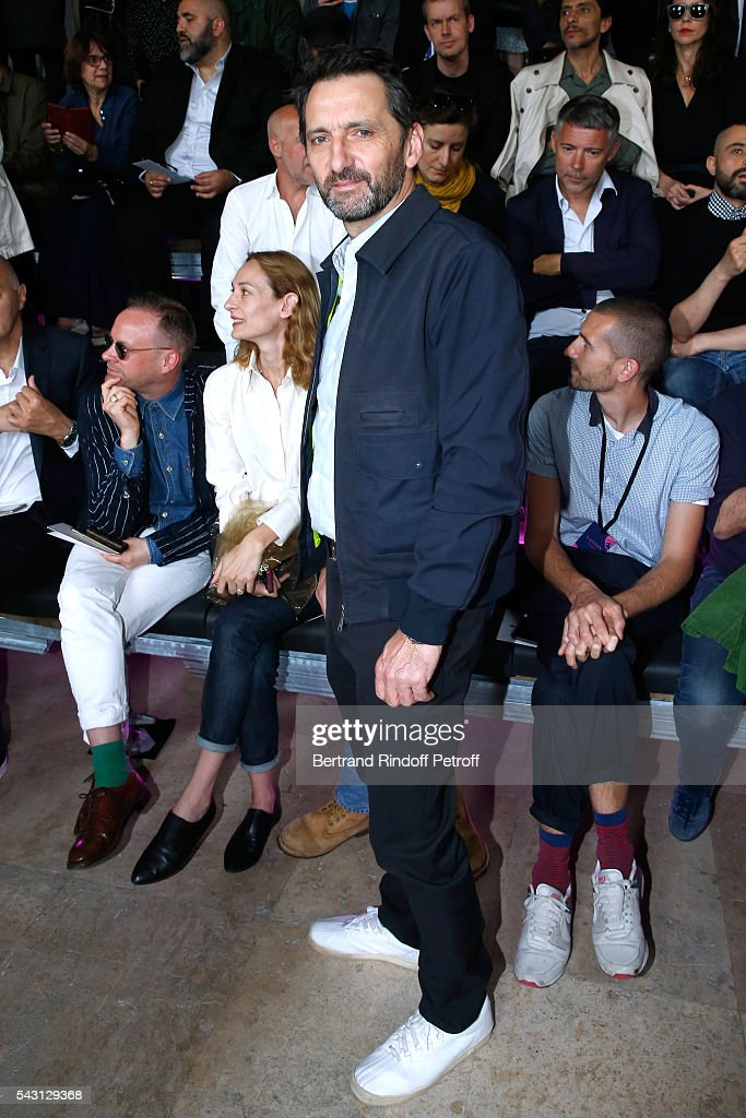 Artist <a gi-track='captionPersonalityLinkClicked' href=/galleries/search?phrase=Xavier+Veilhan&family=editorial&specificpeople=2105642 ng-click='$event.stopPropagation()'>Xavier Veilhan</a> attends the Lanvin Menswear Spring/Summer 2017 show as part of Paris Fashion Week on June 26, 2016 in Paris, France.
