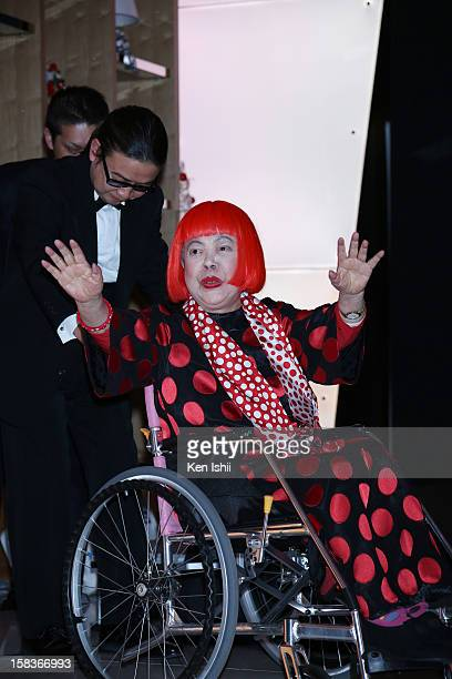 Artist Yayoi Kusama attends the 54th Fashion Editors Club of Japan Awards at MercedesBenz Connection on December 14 2012 in Tokyo Japan
