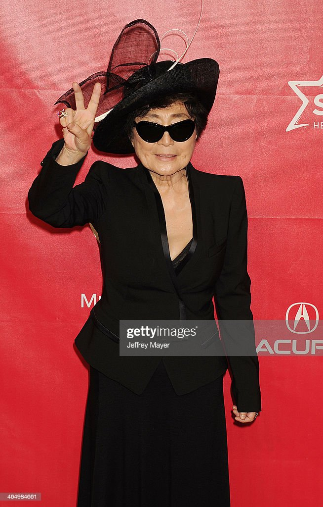 Artist <a gi-track='captionPersonalityLinkClicked' href=/galleries/search?phrase=Yoko+Ono&family=editorial&specificpeople=202054 ng-click='$event.stopPropagation()'>Yoko Ono</a> attends 2014 MusiCares Person Of The Year Honoring Carole King at Los Angeles Convention Center on January 24, 2014 in Los Angeles, California.