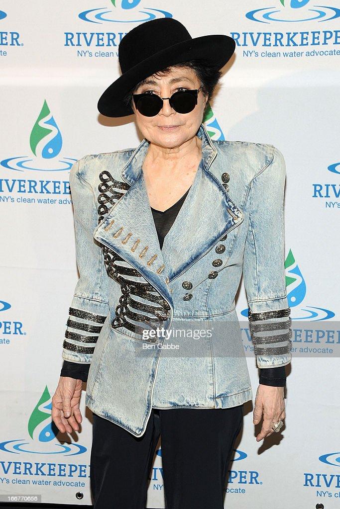 Artist Yoko Ono attends the 2013 Riverkeeper's Fishermen's Ball at Pier 60 on April 16 2013 in New York City