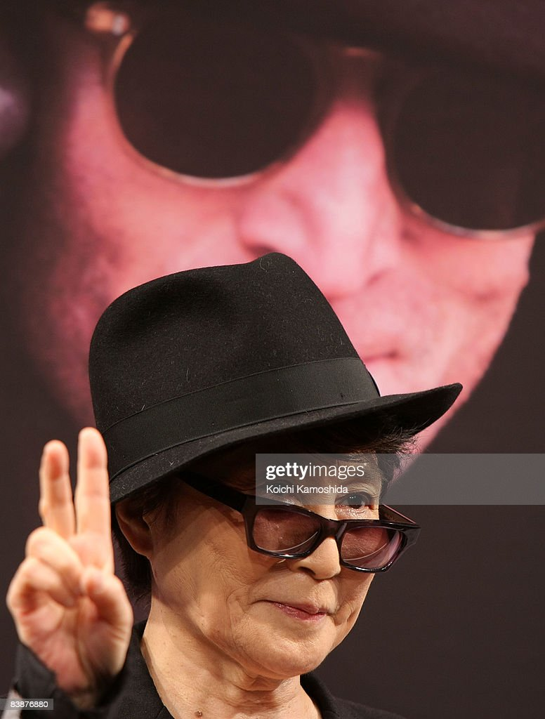 Artist Yoko Ono attends the 'Dream Power John Lennon Super Live' press conference at Imagine Studio of Nippon Broadcasting System on December 2, 2008 in Tokyo, Japan.