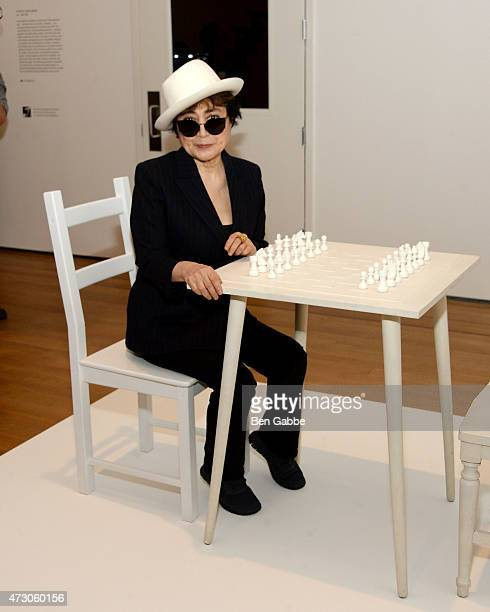 Artist Yoko Ono attends the Yoko Ono One Woman Show 19601971 press preview at Museum of Modern Art on May 12 2015 in New York City