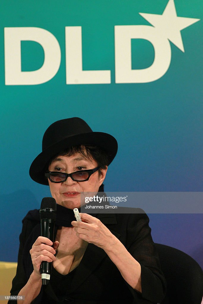 Artist <a gi-track='captionPersonalityLinkClicked' href=/galleries/search?phrase=Yoko+Ono&family=editorial&specificpeople=202054 ng-click='$event.stopPropagation()'>Yoko Ono</a> speaks during the Digital Life Design conference (DLD) at HVB Forum on January 22, 2012 in Munich, Germany. DLD (Digital - Life - Design) is a global conference network on innovation, digital, science and culture which connects business, creative and social leaders, opinion-formers and investors for crossover conversation and inspiration.