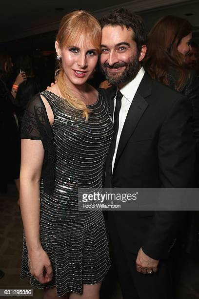 Artist Zackary Drucke and director/actor Jay Duplass attend Amazon Studios Golden Globes Celebration at The Beverly Hilton Hotel on January 8 2017 in...