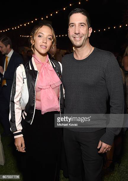 Artist Zoe Buckman and actor David Schwimmer attend the Gersh Emmy Party presented by World Class Spirits at a private residence on September 16 2016...
